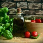 Mediterranean Basil Olive Oil Healthy Eat Tomatoes