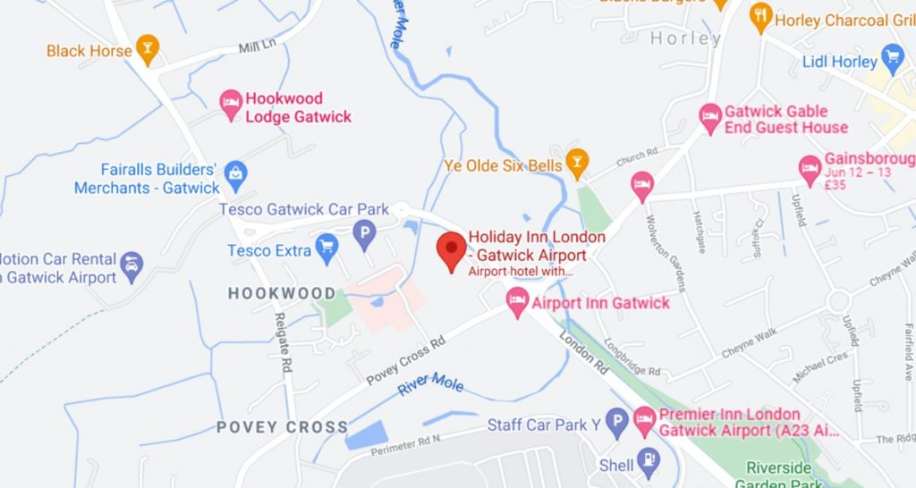 Gatwick Airport PCR Map
